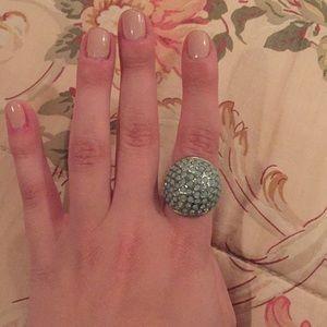 Blue gem cocktail ring